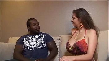 yam-sized-boobed dark haired housewife determined to attempt ebony meat