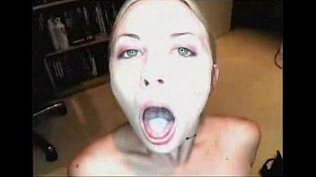 Amateur Blonde Swallows Cum