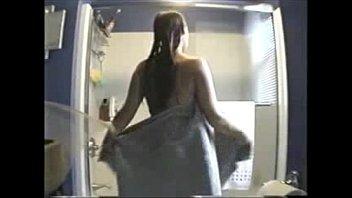 Watch my sister nude in bath room. Hidden cam
