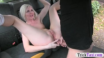 Hot amateur blonde babe gets anal railed by fake driver