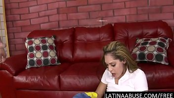 Latina maid face fucked to puke