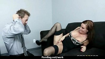 Horny Big-tit MILF fucks employee'_s big-dick in the office 21