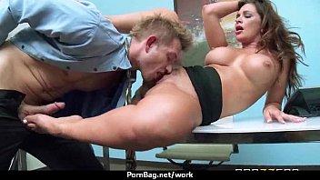 Big-tit latina boss fucks employee'_s hard-dick in office 9