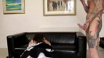 Nasty mature brit maid gets a cumshot