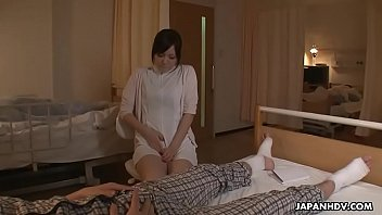 Horny Japanese nurse is toyed to multiple orgasms by a patient
