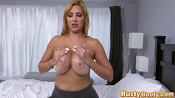 switch roles cowgirl style ash-blonde enormous-chested damsel lengthy dinky