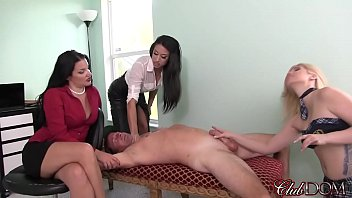 wanking coach jackson3 supah-pulverizing-hot dommes find out their powercbt