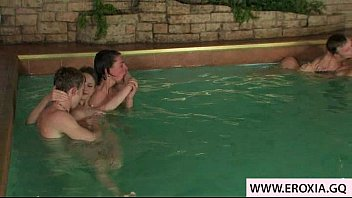 lovely teenage intercourse in the pool.