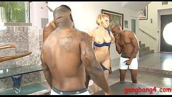 Big boobs whore analyzed by black dicks