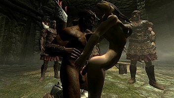 skyrim - imperial soldiers group bang-out a supah-sexy.