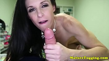 smalltitted cougar draining rod in point.