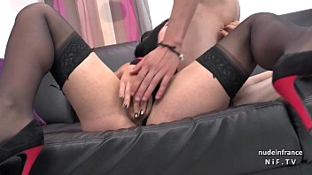 Sexy amateur dark haired french slut fucked hard for her casting couch