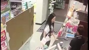 doll urinating in mart and drinking.