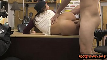 Horny tattooed babe nailed by pawn dude